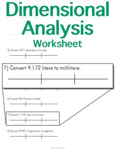 Printables Dimensional Analysis Worksheet Chemistry student scientific notation and worksheets on pinterest customizable printable dimensional analysis worksheet