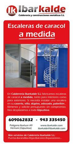 Flyer publicitario para presentar los servicios de escaleras de caracol a medida. #escaleras #rectas #caracol #compensadas #helicoidales