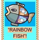 """RAINBOW FISH"" - ADD A GROUP GAME AND SONG!  ""Rainbow Fish, Rainbow Fish, what is it you really wish?""  Add some ACTION to Marcus Pfister's beloved book about Friendship and Generosity.  Play a Group Game with lots of shiny scales and sea creatures!  Kids learn a funny 5-note song and provide RHYMING WORDS FROM CONTEXT CLUES..  Templates for the fish scales, five Sea Creature Friends, and song notes are included.  (14 pages)  Bring a favorite storybook to life with Joyful Noises Express TpT! $"