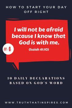 Daily Declaration #4 - Isaiah 41:10