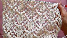 Lace Knitting Stitches, Cable Knitting Patterns, Shawl Patterns, Knitting Designs, Stitch Patterns, Crochet Patterns, Embroidery On Kurtis, Kurti Embroidery Design, Knit Vest Pattern