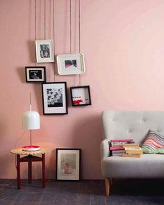 mur rose pastel