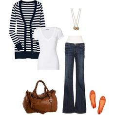 Love the idea of putting orange shoes with this outfit. Now I just need some orange shoes....