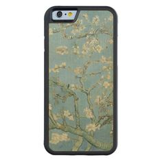 Almond Blossoms by Vincent Van Gogh Carved Maple iPhone 6 Wood Bumper Case