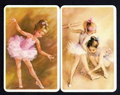 Vintage Swap Cards - Ballerinas