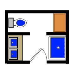 Modify this one 8x11 bathroom floor plan with double bowl for Bathroom 9x7
