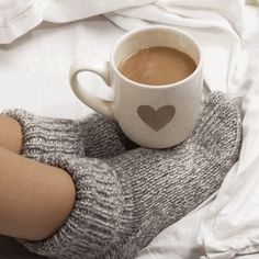 Gray grey heart coffee cup mug sitting on top of feet foot gray grey wool socks, cold winter's morning, warming up cozy, toasty warm, Coffee Lover But First Coffee, I Love Coffee, Coffee Art, Coffee Break, My Coffee, Morning Coffee, Coffee Shop, Coffee Cups, Coffee Lovers