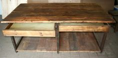 Barn Board Tables Wisconsin | Factory Table Front