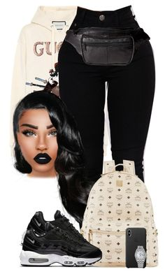 """Catch Up"" by chiamaka-ikaraoha ❤ liked on Polyvore featuring Gucci, Lime Crime, MCM, NIKE, Buxton and Rolex"