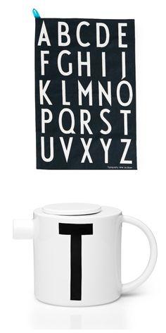 Via Kleur op Tafel | Design Letters | Tea Towels | T-pot