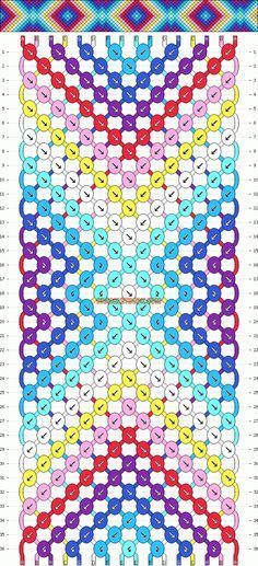 Friendship Bracelet Pattern Instructions | Patterns - Normal - Friendship Bracelet Pattern #9808