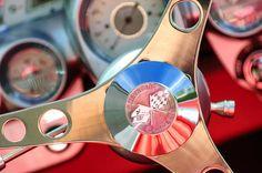 1960 Chevrolet Corvette Steering Wheel Emblem  - Prints for sale