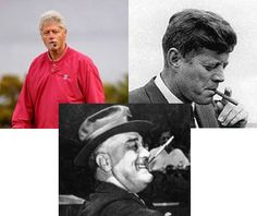Famous Liberal Icons Clinton, Kennedy, Roosevelt Using Their Civil Liberties;  Imagine Telling Kennedy To Stop Smoking