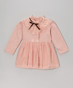 Take a look at this Pink Tulle Ruffle Jacket - Toddler & Girls on zulily today!