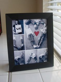 Father's Day photo collage in black and white