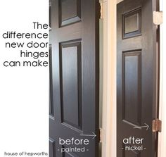 The difference some new hinges can make. Learn how EASY it is to swap out old door hinges for new ones! houseofhepworths.com