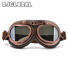 2016 NEW Arrival WWII Vintage motorcycle goggles Harley style Pilot Motorbike goggles Retro Jet Helmet Eyewear 5 color lens