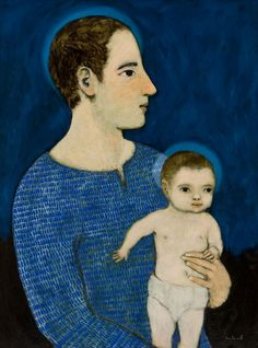 Joseph with the Infant Jesus by Brian Kershisnik