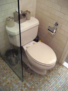 Screen between toilet an shower- small bathroom