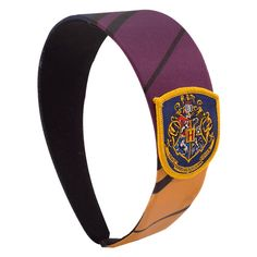 Harry Potter Hogwarts Crest Headband (340 TWD) ❤ liked on Polyvore featuring accessories, hair accessories, hair band accessories, head wrap headband, headband hair accessories, head wrap hair accessories and hair band headband