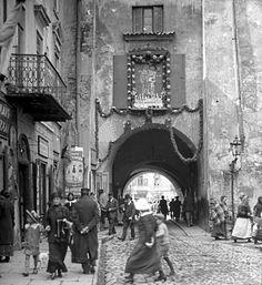 Brama Krakowska (Brama Wyższa), Lublin - 1915 rok, stare zdjęcia