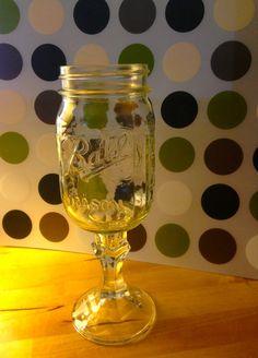 Love it!! Redneck wine glass.