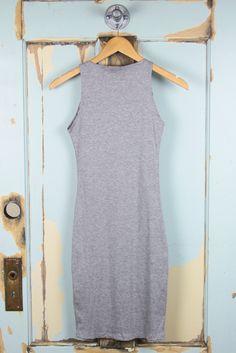 Mini Rib High Neck Pencil Tank Dress