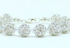 Older Flower Girls, Crystal Bracelets, Swarovski Crystals, Bridesmaid, Beads, Silver, Handmade, Beautiful, Jewelry