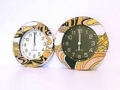 時計リメイクklockor med retro tyg