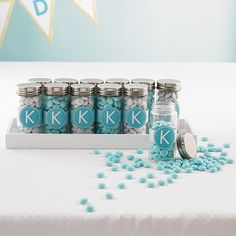 Glass Spice Bottles can make great favors for showers and weddings! Just add candy! | $1.49 - $1.99