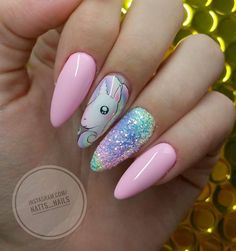 Nail art Christmas - the festive spirit on the nails. Over 70 creative ideas and tutorials - My Nails Unicorn Nails Designs, Unicorn Nail Art, Hot Nails, Hair And Nails, Indigo Nails, Cute Nail Art, Pastel Nails, Gorgeous Nails, Trendy Nails