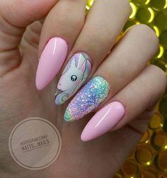 Cinderella Pixel Effect & Maybe Baby Gel Brush by Natalia Ptaszek #nails #nail #nailsart #indigonails #indigo #hotnails #summernails #springnails #pastel #pastelnails #pink