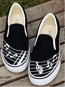 music shoes. I would like to wear converse or vans or sneakers under neigh my dress. I would like that even more high heels. :D