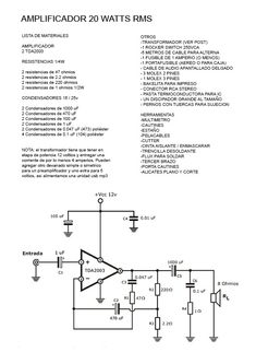 circuit diagram of the subwoofer for cars electronics pinterest john deere wiring diagrams amplificador de 10w stereo