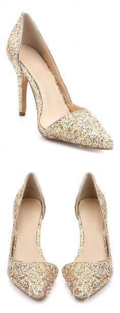 Glitter d'orsay pumps