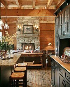 Kitchen and Breakfast Room!!! Bebe'!!! Love the Fireplace!!!