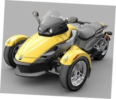 Cam-Am Spyder 3 wheel motorcycle .... So, it's like an old school tric but won't tip when you turn, got it.