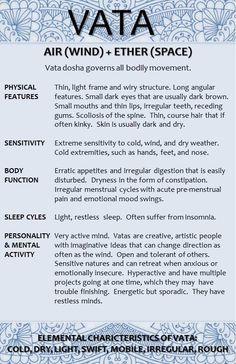 Vata Dosha Characteristics 1