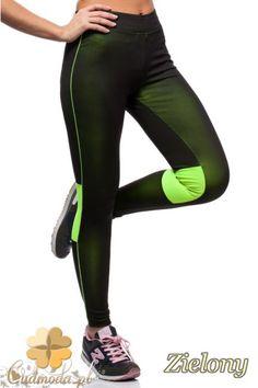 Dopasowane legginsy z neonową wstawką marki Paulo Connerti.  #cudmoda #moda #styl #ubrania #odzież #spodnie #clothes #pants #leggings #hosen