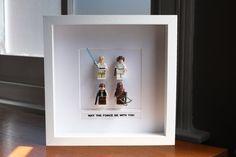 Star Wars Mini Figures Framed 'Jedi Knights' by PrettyPeculiarUK