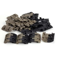 Ohhunt Tactical Accessories Universal Quad Rail System Handguard mount 32pcs Picatinny Rail Covers (2)