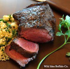 how to cook bison top sirloin steak