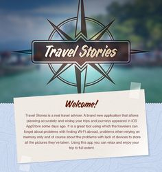 Travel Stories by AGENTE, via Behance