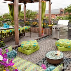 12 DIY Ideas for Patios, Porches and Decks • Great blogger tutorials and inspiration for freshening up your outdoor spaces including this one by 'BHG'!