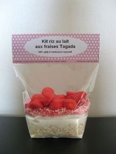 kit riz au lait aux fraises tagada Christmas To Do List, Diy Christmas Gifts, Kids Christmas, Sos Recipe, Bakery Names, Diy Cadeau Noel, Happy Party, Gifts For Cooks, Food Jar