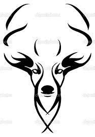 Bildergebnis für deer head drawing