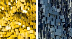 Rob Ley of Urbana Studio has recently completed May-September, an interactive art facade made from 7,000 angled metal panels attached to a parking structure at the new Eskenazi Hospital in Indianapolis, Indiana