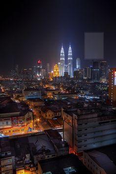 Kuala Lumpur - Cityscape at Night  by Ezry Abdul Rahman
