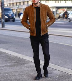 By @philippegazarstyle #suedejacket [ http://ift.tt/1f8LY65 ] #royalfashionist