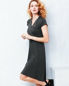 Eileen Fisher Organic Cotton Surplice Dress